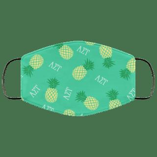 Alpha Sigma Tau Pineapples Face Mask