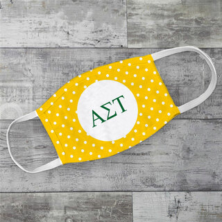 Alpha Sigma Tau Polka Dots Face Mask