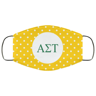 Alpha Sigma Tau Polka Dots Face Mask
