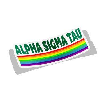 Alpha Sigma Tau Prism Decal Sticker