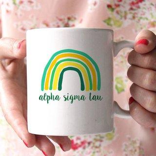 Alpha Sigma Tau Rainbow Coffee Mug