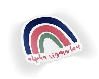 Alpha Sigma Tau Rainbow Sticker