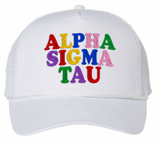 Alpha Sigma Tau Rainbow Trucker Hat