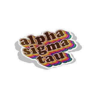 Alpha Sigma Tau Retro Maya Decal Sticker