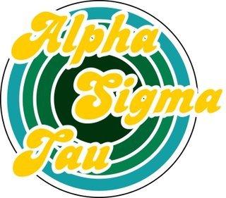 Alpha Sigma Tau Retro Round Decals