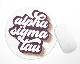 Alpha Sigma Tau Retro Script Mousepad