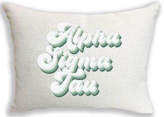 Alpha Sigma Tau Retro Throw Pillow
