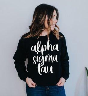 Alpha Sigma Tau Script Crew Sweatshirt