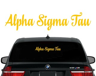 Alpha Sigma Tau Script Decal