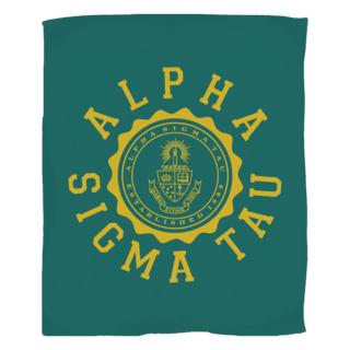Alpha Sigma Tau Seal Fleece Blanket