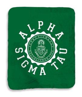 Alpha Sigma Tau Seal Sherpa Lap Blanket