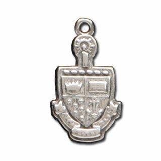 Alpha Sigma Tau Silver Crest - Shield Charm