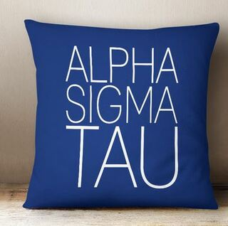 Alpha Sigma Tau Simple Pillow