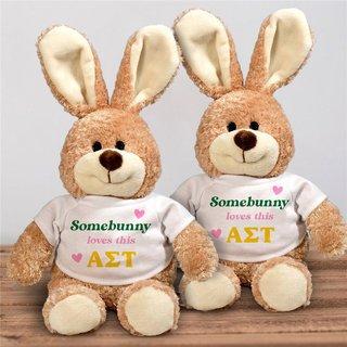 Alpha Sigma Tau Somebunny Loves Me Stuffed Bunny