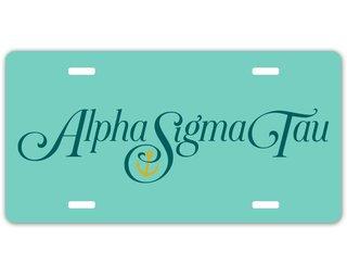 Alpha Sigma Tau Sorority Logo License Cover