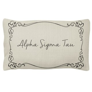 Alpha Sigma Tau Sorority Lumbar Pillows