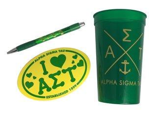 Alpha Sigma Tau Sorority Medium Pack $7.50