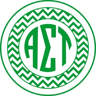 Alpha Sigma Tau Sorority Monogram Bumper Sticker