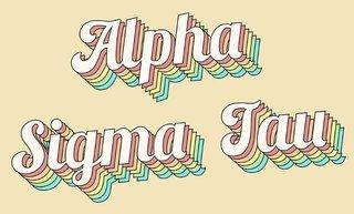 Alpha Sigma Tau Sorority Retro Flag