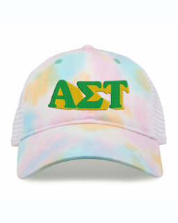 Alpha Sigma Tau Sorority Sorbet Tie Dyed Twill Hat