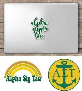 Alpha Sigma Tau Sorority Sticker Collection - SAVE!