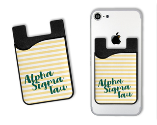 Alpha Sigma Tau Sorority Stripes Caddy Phone Wallet