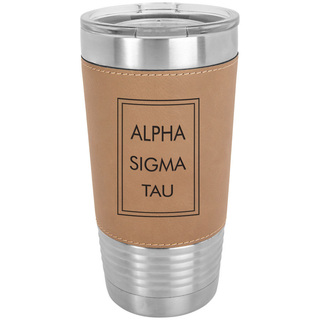 Alpha Sigma Tau Sorority Leatherette Polar Camel Tumbler