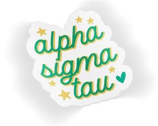 Alpha Sigma Tau Star Sticker