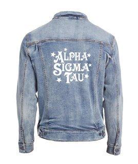 Alpha Sigma Tau Star Struck Denim Jacket