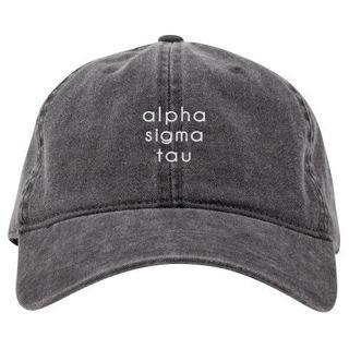 Alpha Sigma Tau Stonewashed Cotton Hats