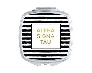 Alpha Sigma Tau Striped Compact
