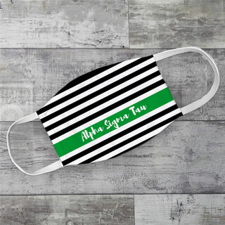 Alpha Sigma Tau Stripes Face Mask