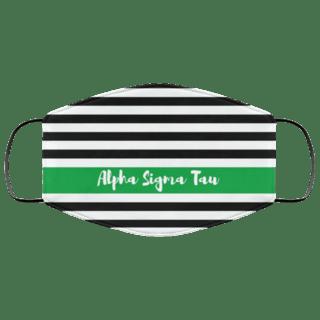 Alpha Sigma Tau Stripes Face Mask