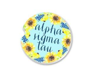 Alpha Sigma Tau Sunflower Car Coaster