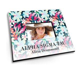 Alpha Sigma Tau Tropical Picture Frame