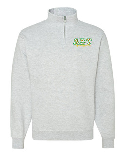 Alpha Sigma Tau Twill Greek Lettered Quarter zip