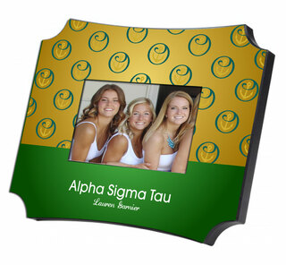 Alpha Sigma Tau Two Tone Mascot Picture Frame