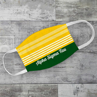 Alpha Sigma Tau Two Tone Stripes Face Mask