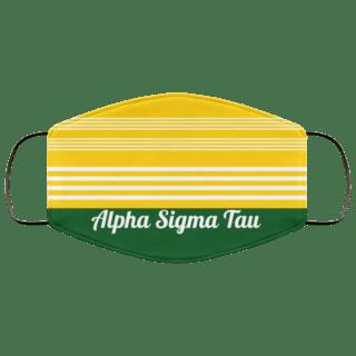 Alpha Sigma Tau Two Tone Stripes Face Mask