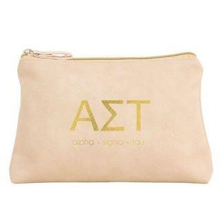 Alpha Sigma Tau Vegan Leather Cosmetic Bags