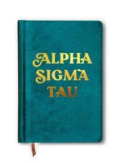 Alpha Sigma Tau Velvet Notebook