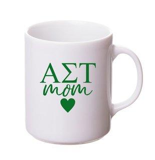 Alpha Sigma Tau White Personalized Coffee Mug
