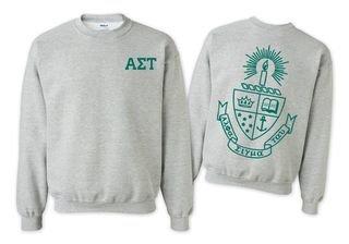 Alpha Sigma Tau World Famous Crest Crewneck Sweatshirt- $25!