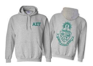 Alpha Sigma Tau World Famous Crest Hooded Sweatshirt- $35!