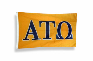 Alpha Tau Omega Big Greek Letter Flag
