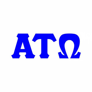 Alpha Tau Omega Big Greek Letter Window Sticker Decal