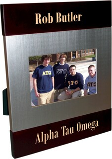 Alpha Tau Omega Brush Silver Frame