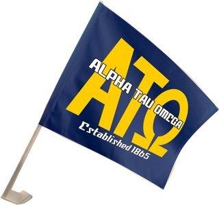 Alpha Tau Omega Car Flag