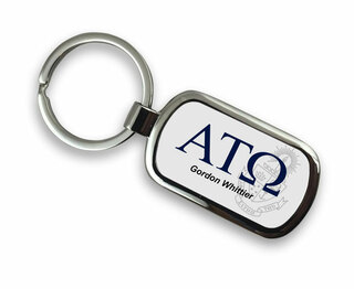 Alpha Tau Omega Chrome Crest - Shield Key Chain