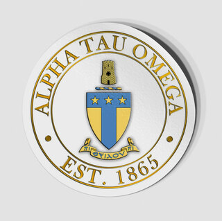 Alpha Tau Omega Circle Crest - Shield Decal